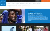 New Screenshot Human Rights Watch Home Page