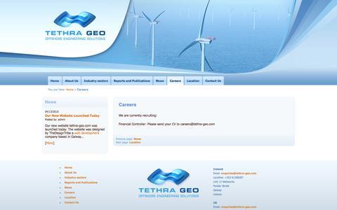 Screenshot of Jobs Page tethra-geo.com - Careers - captured Oct. 9, 2014