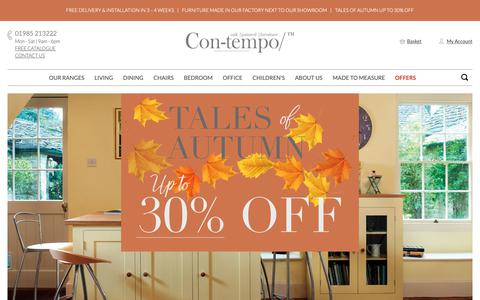 Screenshot of Home Page con-tempofurniture.co.uk - Customisable Painted & Solid Oak Furniture Ranges | Con-tempo Furniture - captured Sept. 29, 2018