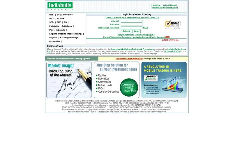 | Trade@indiabulls.com |
