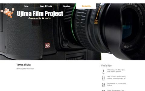 Screenshot of Terms Page ujimafilm.com - Terms of Use - captured Oct. 27, 2014