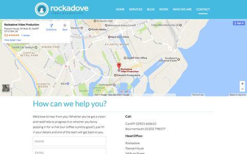 Screenshot of Contact Page rockadove.co.uk - Contact Us | Rockadove - captured June 18, 2017