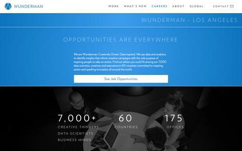 Screenshot of Jobs Page wunderman.com - Careers & Employment | Wunderman - captured April 30, 2017