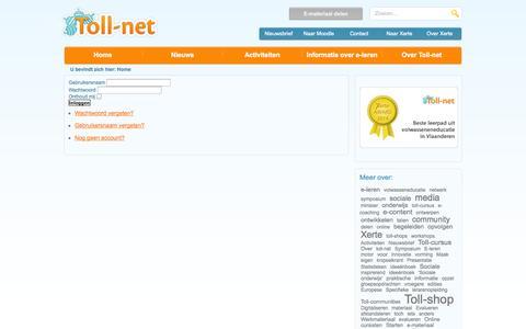Screenshot of Login Page toll-net.be - Toll-net - captured Sept. 30, 2014