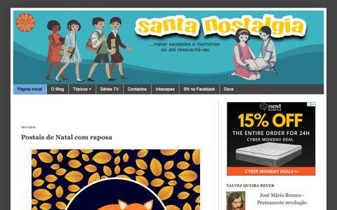 Screenshot of Home Page santanostalgia.com - Santa Nostalgia - captured Nov. 27, 2018