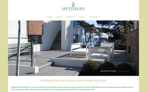 Screenshot of Privacy Page spetisburyconstruction.co.uk - Spetisbury Construction | Privacy  | Constructing Excellence In Southern England - captured Oct. 27, 2017