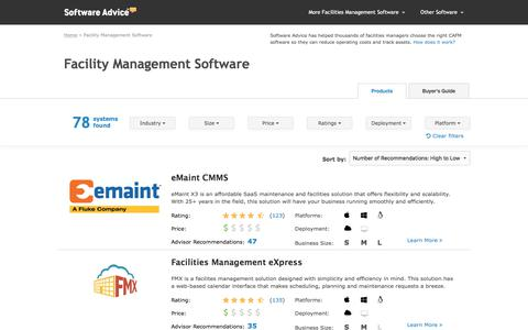 Top Facility Management Software - 2017 Reviews & Pricing