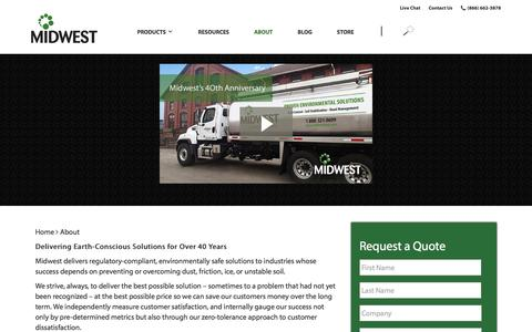 Screenshot of About Page midwestind.com - About - Midwest Industrial Supply - captured Aug. 21, 2019