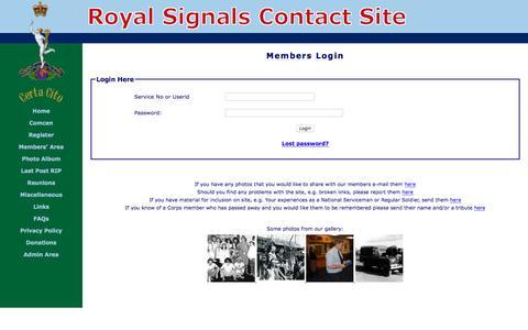Screenshot of Login Page royal-signals.org.uk - Login - captured March 26, 2017
