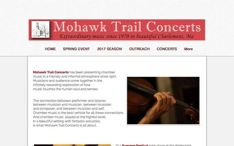 Screenshot of About Page mohawktrailconcerts.org - CONTACT - captured April 26, 2017