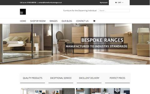 Screenshot of Home Page homefurniturerange.co.uk - Home Furniture Range - captured Sept. 30, 2014