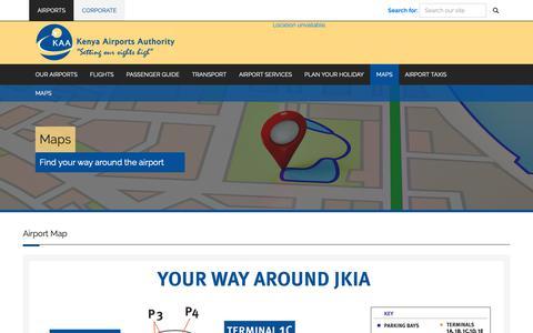 Screenshot of Maps & Directions Page kaa.go.ke - Kenya Airports Authority : Maps - captured Nov. 8, 2018
