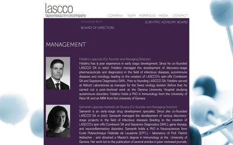 Screenshot of Team Page lascco.com - Lascco - captured July 7, 2017