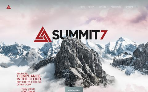 Screenshot of Home Page summit7systems.com - Summit 7 – A New Way to Work - captured Jan. 12, 2018
