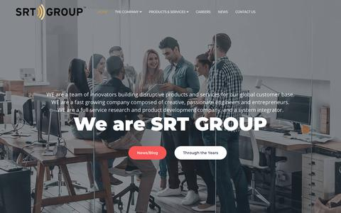 Screenshot of Home Page srtgrp.com - SRT Group - captured June 28, 2019