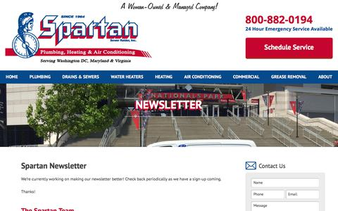 Screenshot of Signup Page spartanman.com - Newsletter - captured July 6, 2017