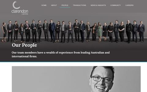 Screenshot of Team Page clarendonlawyers.com.au - Our People | Clarendon Lawyers - captured July 18, 2018