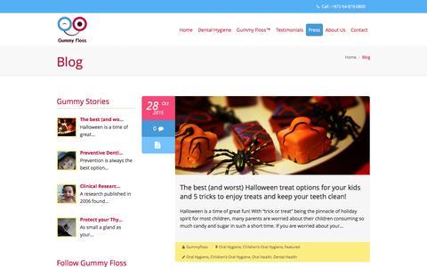 Screenshot of Blog gummyfloss.com - Blog | Gummy Floss™ - captured Dec. 15, 2015