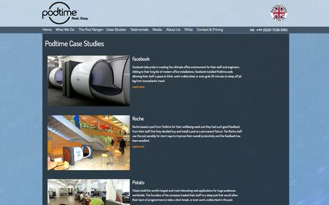 Screenshot of Case Studies Page podtime.co.uk - Podtime - Case Studies and Testimonials - captured Sept. 30, 2014
