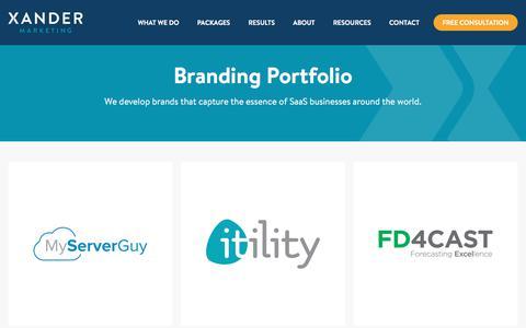 SaaS Branding Examples | Xander Marketing