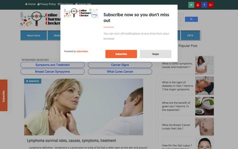 Screenshot of Home Page onlinepharmacychecker.com - Online Pharmacy Checker | Natural Home Remedies - captured Nov. 29, 2018