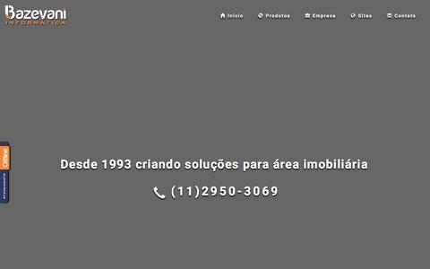 Screenshot of Home Page bazevani.com.br - Bazevani Informática Software e Websites para Imobiliaria - captured March 16, 2016