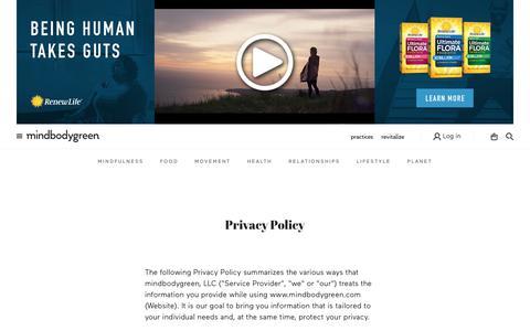 Privacy Policy - mindbodygreen - mindbodygreen