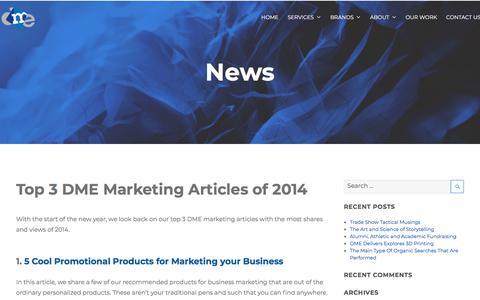 Screenshot of Press Page dmedelivers.com - News Archives - DME Delivers - captured Feb. 23, 2018