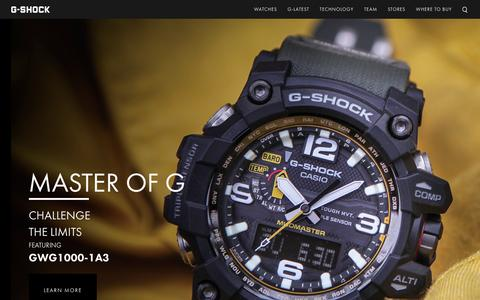 Screenshot of Home Page gshock.com - Watches - Mens Watches - Digital Watches Casio - G-Shock - captured Feb. 13, 2016