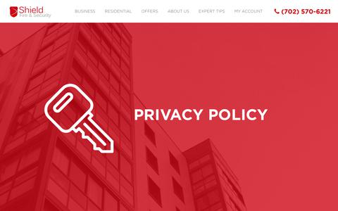 Screenshot of Privacy Page shieldfs.com - Privacy Policy | Shield Fire & Security - captured Oct. 24, 2017