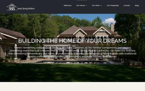 Screenshot of About Page sandyspringbuilders.com - About Sandy Spring Builders | Bethesda, MD - captured July 27, 2018