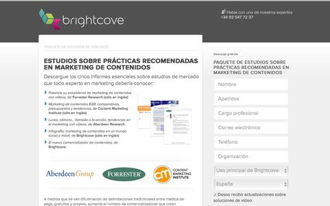 Screenshot of Landing Page brightcove.com - Brightcove | Estudio sobre prácticas recomendadas en marketing de contenidos - captured May 11, 2016