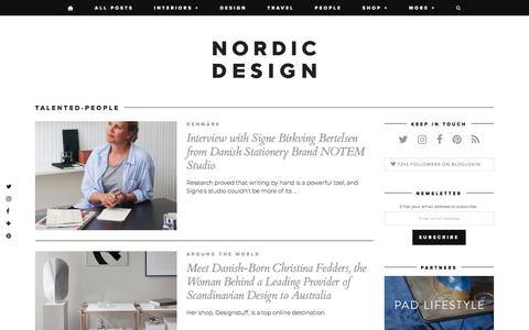 Screenshot of Team Page nordicdesign.ca - Interview Archives - NordicDesign - captured Sept. 20, 2018