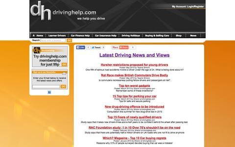 Screenshot of Press Page drivinghelp.com - Latest Driving News and Views - captured Oct. 5, 2014