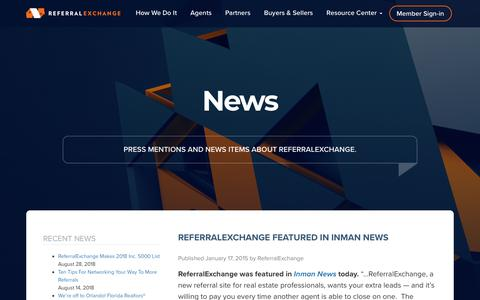 Screenshot of Press Page referralexchange.com - News Archive - Page 12 of 12 - ReferralExchange - captured Sept. 14, 2018