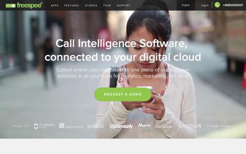 Screenshot of Home Page freespee.com - The single phone call data platform - Freespee - captured Dec. 2, 2015