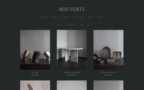 Screenshot of Products Page rueverte.dk - Rue Verte — Products - captured Nov. 16, 2018
