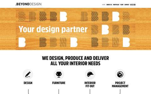 Screenshot of Home Page beyondinteriors.biz - Home - Beyond Design - captured Jan. 2, 2016