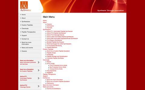 Screenshot of Site Map Page activotec.com - Activotec - captured Oct. 4, 2014