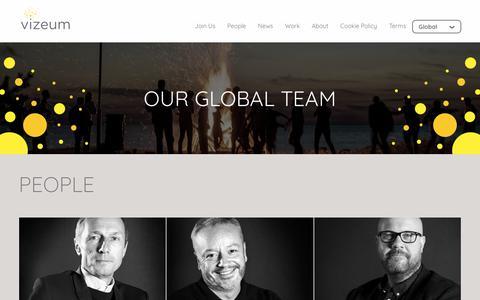 Screenshot of Team Page vizeum.com - People   Vizeum - captured Sept. 20, 2018