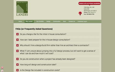 Screenshot of FAQ Page landisconstruction.com - FAQs (or Frequently Asked Questions) - - captured Oct. 1, 2014