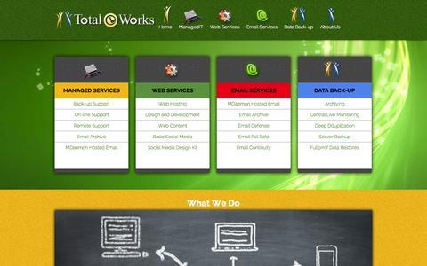 Screenshot of Home Page totaleworks.net - Total E Works   Problem Solved! - captured Jan. 26, 2015