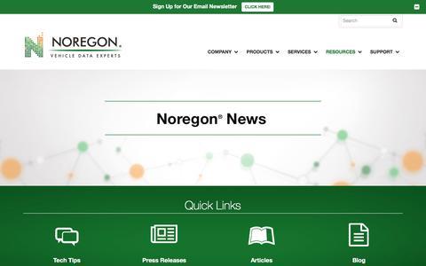 Screenshot of Press Page noregon.com - News, Press Releases, Articles & Events   Noregon - captured Feb. 3, 2018