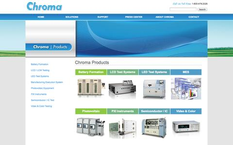 Screenshot of Products Page chromaus.com - All Products | Chroma ATE - Automated Testing Equipment - captured Oct. 2, 2014