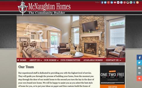 Screenshot of Team Page mcnaughtonhomes.com - McNaughton Homes - captured Oct. 27, 2014