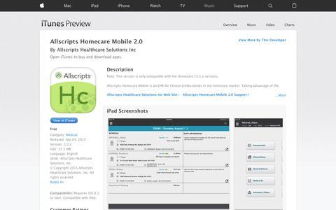 Allscripts Homecare Mobile 2.0 on the App Store