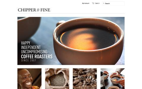 Screenshot of Home Page chipperandfine.com - Chipper and Fine | Specialty Coffee - captured Jan. 26, 2015