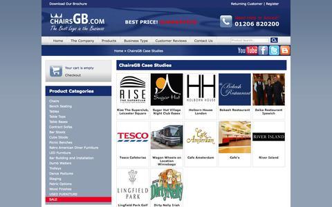 Screenshot of Case Studies Page chairsgb.com - ChairsGB Case Studies > Home > ChairsGB - captured Sept. 25, 2014
