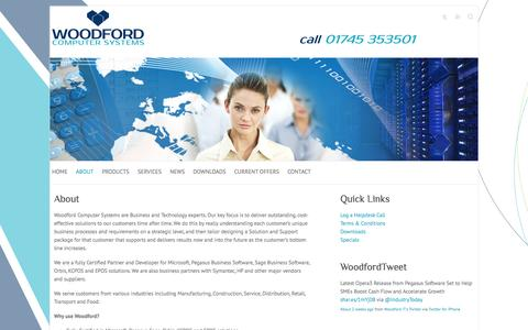 Screenshot of About Page woodford-it.co.uk - About   Woodford Computer Systems Ltd - captured Oct. 26, 2014