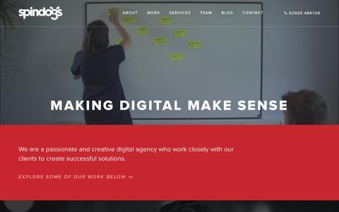 Screenshot of Home Page spindogs.co.uk - Web Design Cardiff   Spindogs Website Design, Development & Online Marketing Agency - captured Jan. 13, 2016